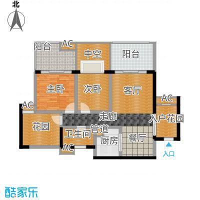 蓝光凯丽香江86.00㎡3-C1型奇数面积8600m户型