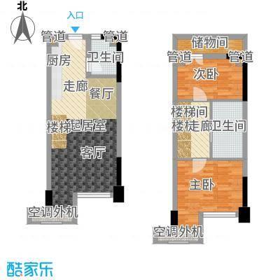 保利新天地50.00㎡1期10号楼标准层D1户型