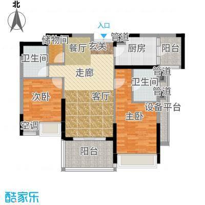 时代晶科名苑111.00㎡二期20号楼面积11100m户型