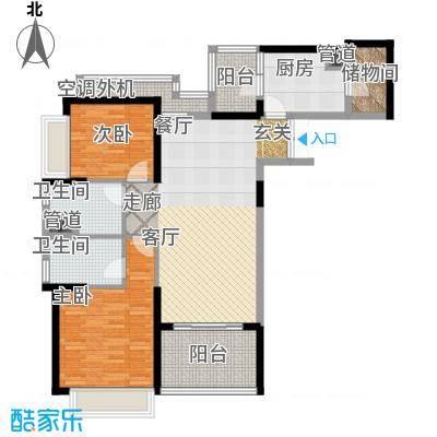 时代晶科名苑116.00㎡二期20号楼面积11600m户型