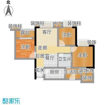 誉峰130.00㎡二期14号楼标准层A1户型