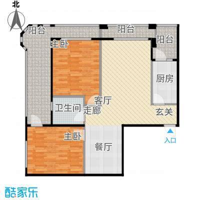 安德小城故事1.30㎡1期135栋标准层A1户型