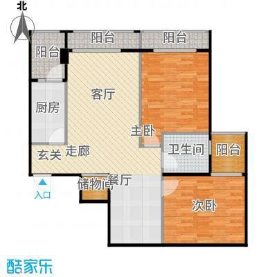 安德小城故事1.30㎡1期135栋标准层A2户型