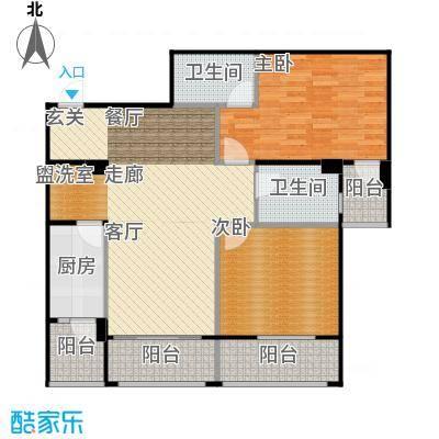 安德小城故事1.30㎡1期135栋标准层A4户型