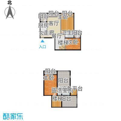 安德小城故事1.30㎡1期135栋跃层A2户型