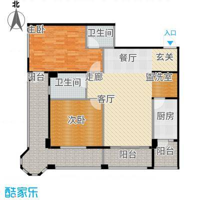 安德小城故事1.30㎡1期135栋标准层A3户型