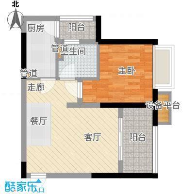 ICON尚郡58.66㎡一期5栋标准层B3户型