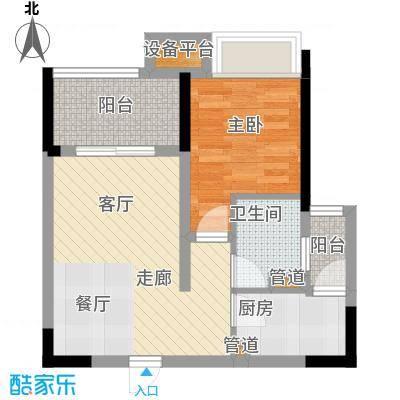 ICON尚郡57.89㎡一期5栋标准层B1户型