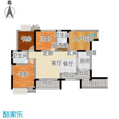香榭国际99.88㎡一期3、4、5号楼标准层B5户型