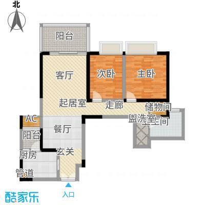 仁和春天国际花园110.49㎡一期7号楼标准层B2售罄户型