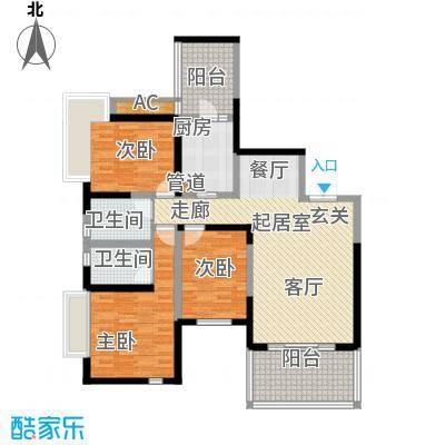 仁和春天国际花园125.10㎡一期4号楼标准层B1售罄户型