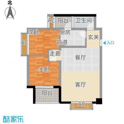 枫丹国际公寓95.00㎡一期1、2号楼标准层B1户型