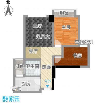 时代睿城54.00㎡一期2栋标准层C1/3户型
