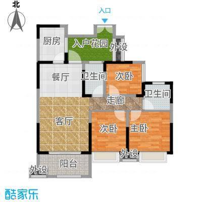 领馆国际城95.12㎡一期5号楼标准层B3户型