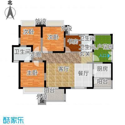 领馆国际城118.27㎡一期2号楼标准层B2户型