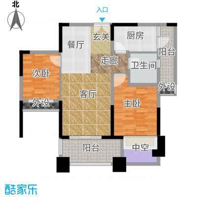 领馆国际城二期9幢标准层D4户型