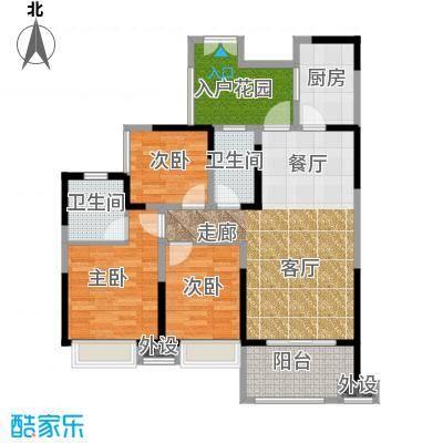 领馆国际城95.28㎡一期4号楼标准层B3户型