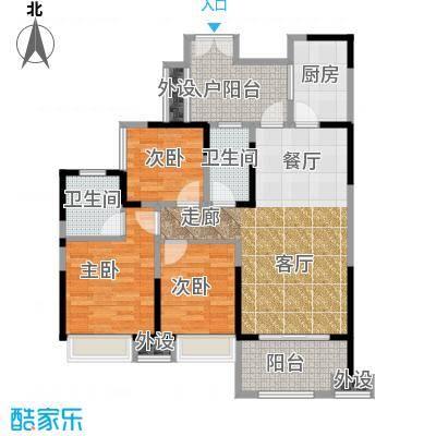 领馆国际城95.30㎡一期一批次5号楼标准层B3-M户型