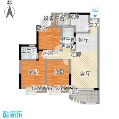 天邑宏御花园92.00㎡一期1-6号楼标准层D-1户型