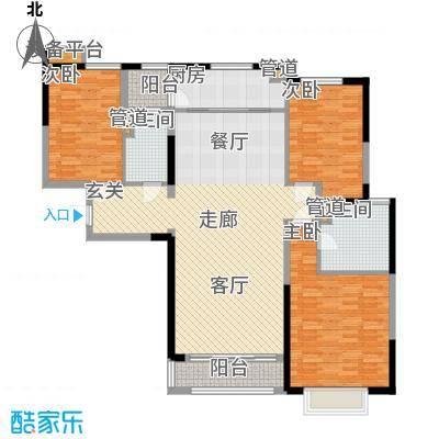 西派国际140.00㎡一期4号楼标准层D2户型