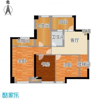 保利百合花园129.00㎡1期8栋2层B1户型