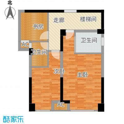 保利百合花园127.00㎡一期1号楼A5/6二层户型