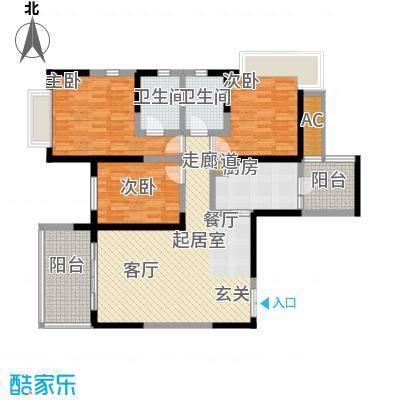 仁和春天国际花园127.32㎡一期4号楼标准层A3售罄户型