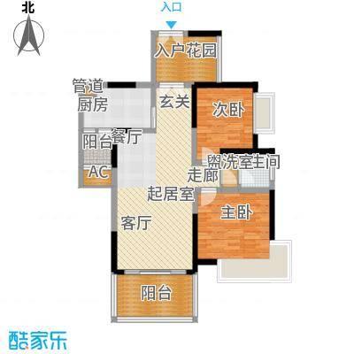仁和春天国际花园95.60㎡一期7号楼标准层B4售罄户型