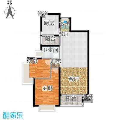 南城都汇御天下90.00㎡三期2、3栋2-17层1号房户型