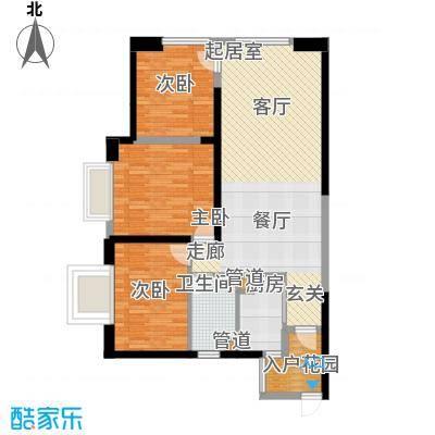 东方希望天祥广场天荟109.00㎡一期3号楼标准层B2-1户型