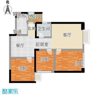 东方希望天祥广场天荟111.00㎡一期3号楼标准层B2-6户型