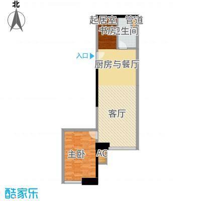 东方希望天祥广场天荟87.90㎡一期1号楼标准层c2户型