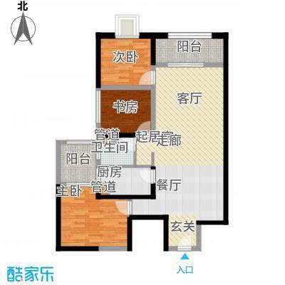 东方希望天祥广场天荟111.00㎡一期3号楼标准层B2-2户型