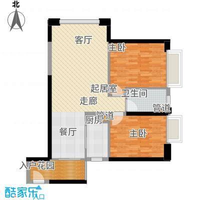 东方希望天祥广场天荟90.00㎡一期3号楼标准层B2-3户型