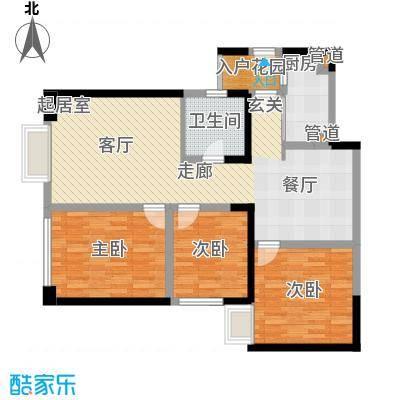 东方希望天祥广场天荟111.00㎡一期3号楼标准层B2-7户型