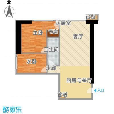 东方希望天祥广场天荟94.21㎡一期1号楼标准层c1户型