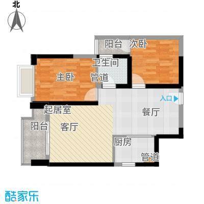 东方希望天祥广场天荟81.00㎡一期3号楼标准层B1-8户型