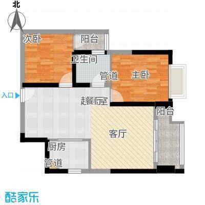 东方希望天祥广场天荟81.00㎡一期3号楼标准层B1-3-2户型