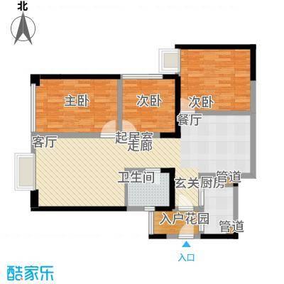 东方希望天祥广场天荟107.00㎡一期3号楼标准层B1-6户型