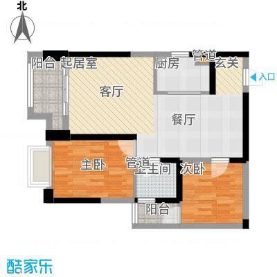 东方希望天祥广场天荟84.00㎡一期3号楼标准层B1-7户型