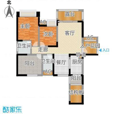 保利星座114.00㎡13号楼标准层1-03户型