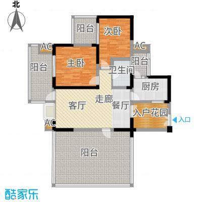 红树湾86.35㎡二期8号楼标准层E1-2户型