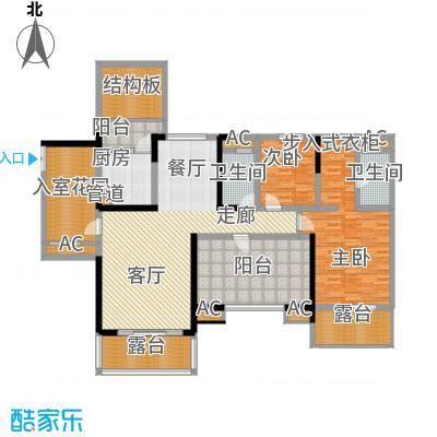 保利星座125.00㎡15号楼标准层1-02/03户型