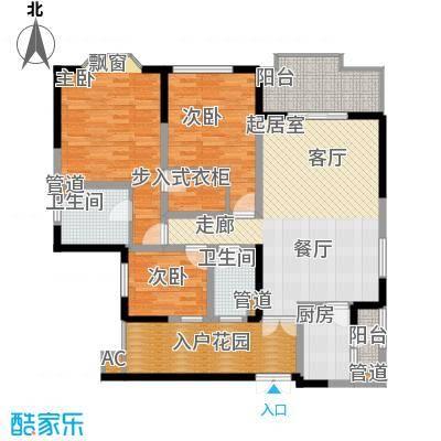 中环岛142.00㎡一期1、2、5号楼标准层B1户型