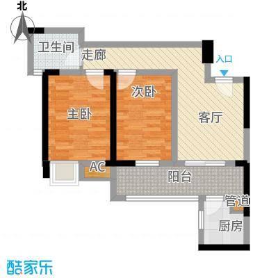 司南68.00㎡一期5号楼标准层A户型