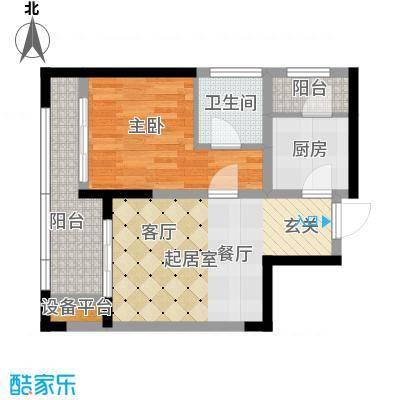 泰悦湾60.00㎡一期7号楼标准层D3户型