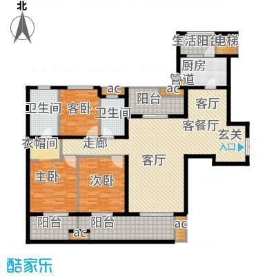 中海城南华府160.00㎡一期2、3、5、6号楼标准层C户型