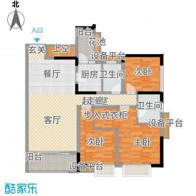天悦府135.00㎡一期15号楼标准层A3户型