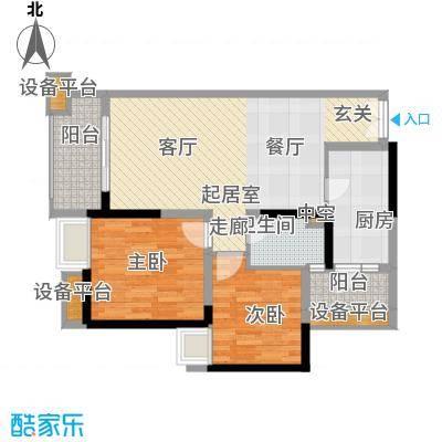 天悦府87.00㎡一期15号楼标准层C3户型