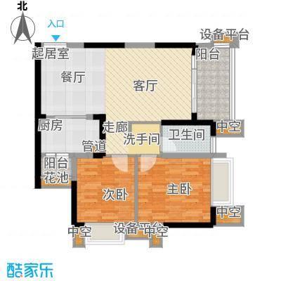 天悦府89.00㎡一期17号楼标准层C4-1户型